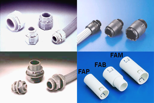 Flexible conduit adaptor bg fam fap fab mg paq